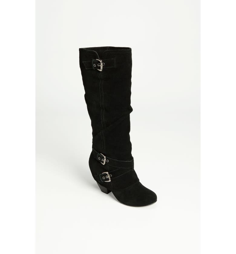 NAUGHTY MONKEY 'Risk It' Boot, Main, color, BLACK SUEDE