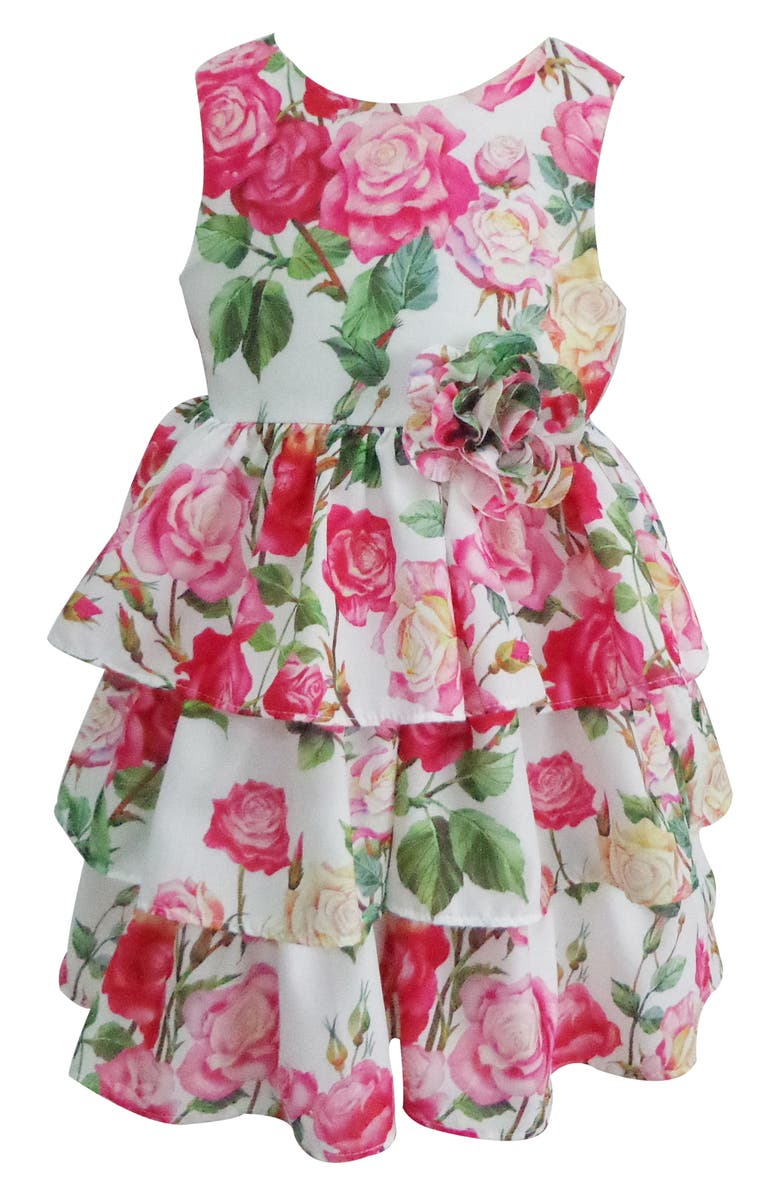POPATU Floral Tiered Dress, Main, color, 650