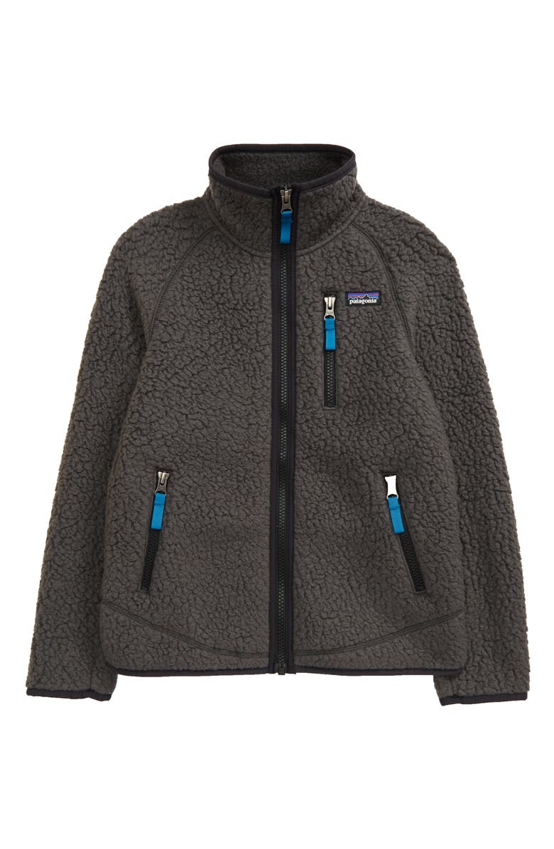 PATAGONIA Retro Pile Recycled Fleece Zip Jacket, Main, color, FORGE GREY-FGE