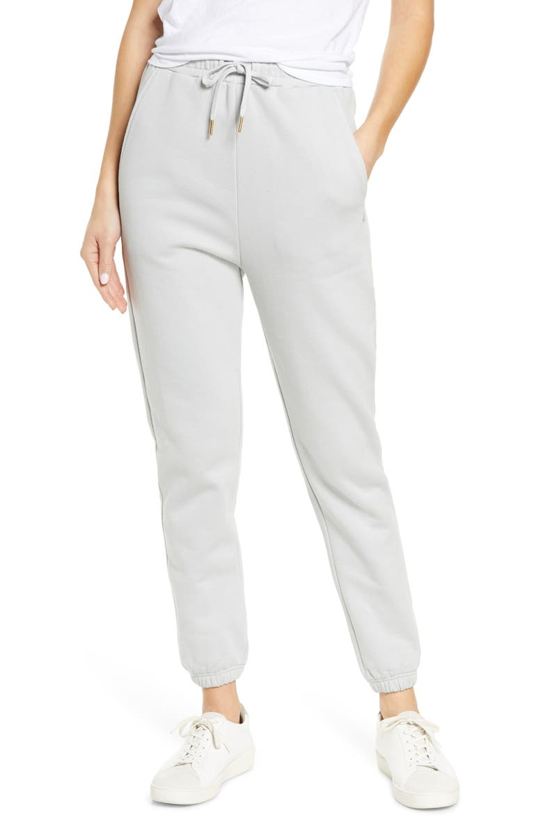 WE WORE WHAT Cotton Sweatpants, Main, color, PEARL BLUE