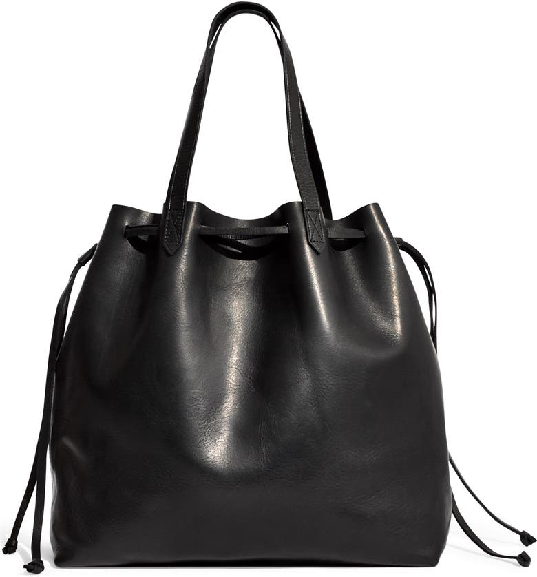 MADEWELL Drawstring Transport Tote, Main, color, 001