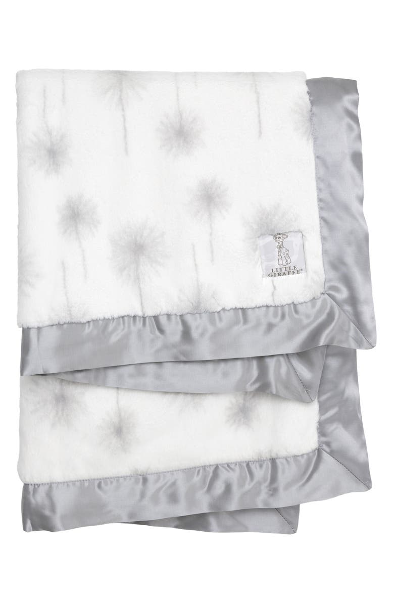 LITTLE GIRAFFE Luxe<sup>™</sup> Dandelion Baby Blanket, Main, color, CHARCOAL NEW