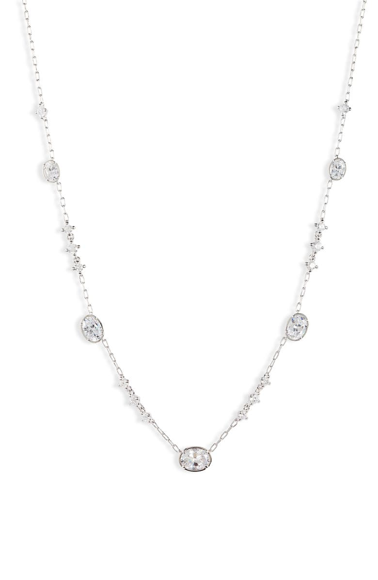 NADRI Issa Cubic Zirconia Station Necklace, Main, color, 040