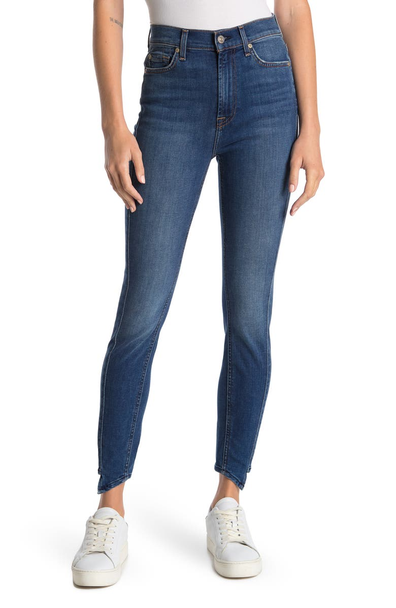 7 FOR ALL MANKIND Gwen Splice High Waist Ankle Jeans, Main, color, CHARLESTON