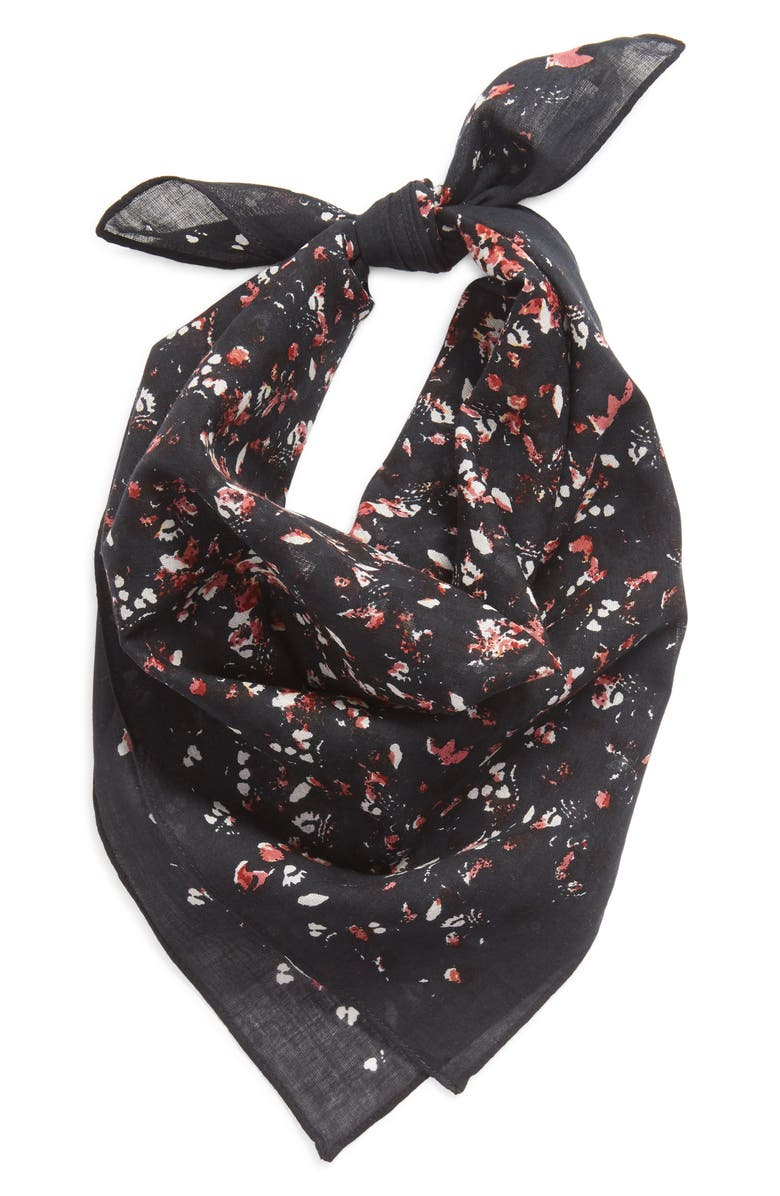 TREASURE & BOND Floral Square Bandana, Main, color, 001