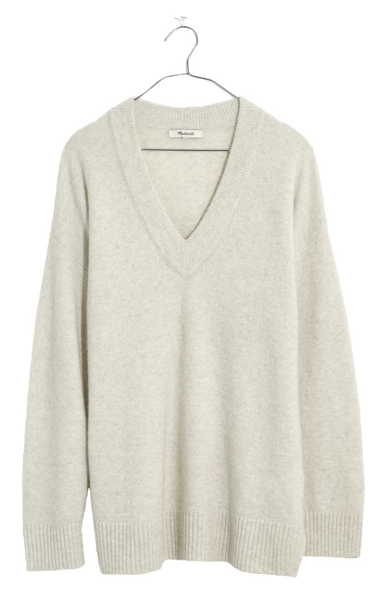 MADEWELL Donegal Jason Ex-Boyfriend Pullover, Main, color, HEATHER SMOKE