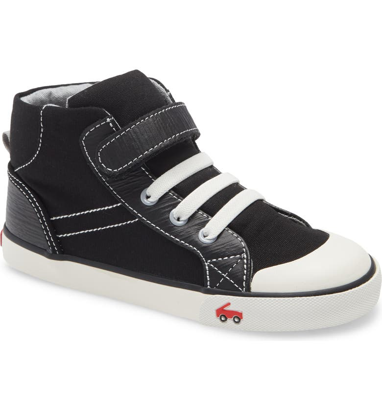 SEE KAI RUN Dane High Top Sneaker, Main, color, BLACK