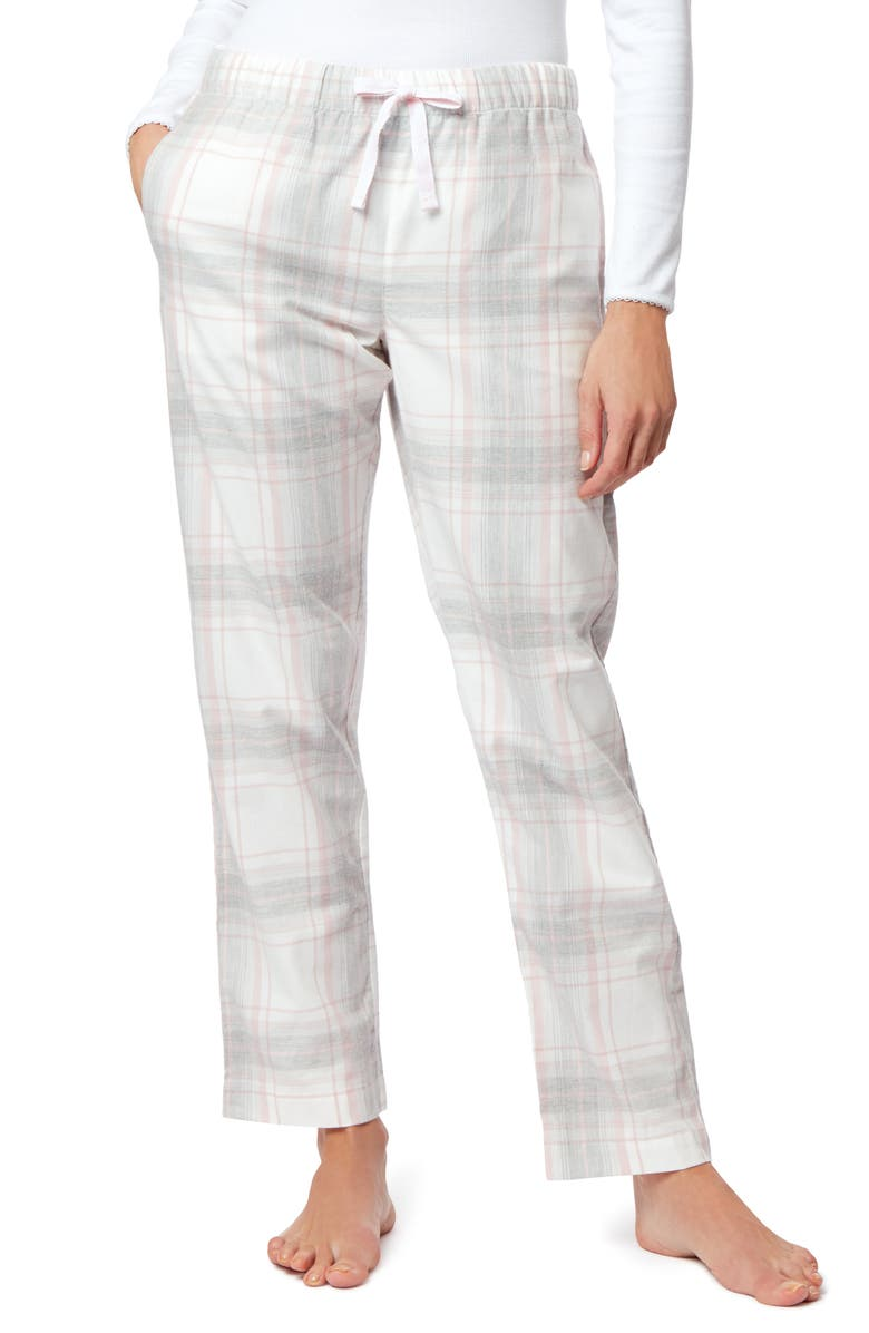 THE WHITE COMPANY Check Flannel Pajama Pants, Main, color, 020