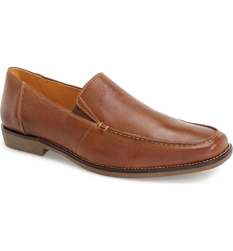 SANDRO MOSCOLONI 'Easy' Leather Venetian Loafer, Main, color, 210