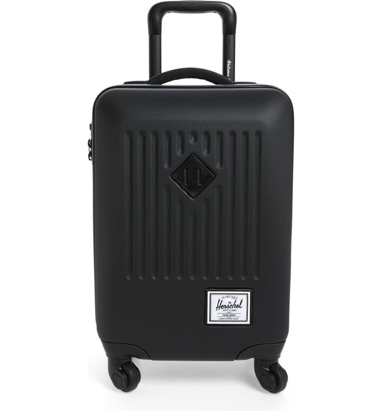 HERSCHEL SUPPLY CO. Trade 20-Inch Wheeled Carry-On, Main, color, HARDSHELL BLACK