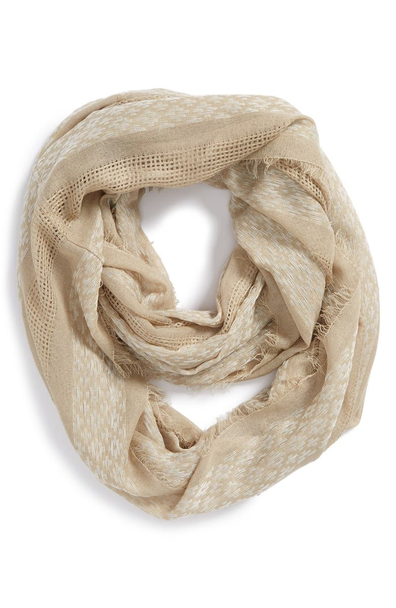 BP. Woven Infinity Scarf, Main, color, TAUPE/ IVORY