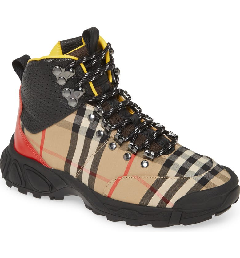 BURBERRY Tor Hiking Boot, Main, color, 250