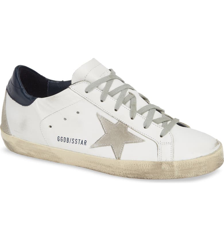GOLDEN GOOSE Super-Star Low Top Sneaker, Main, color, WHITE/ ICE/ NIGHT BLUE