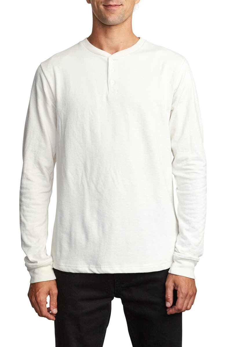 RVCA Lavish Slub Long Sleeve Henley, Main, color, 020