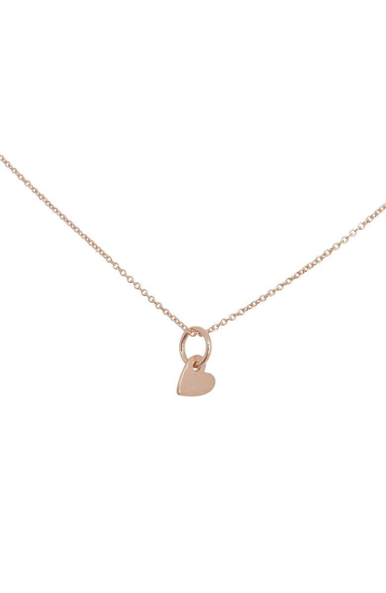 NASHELLE Piece of My Heart Charm Necklace, Main, color, ROSE