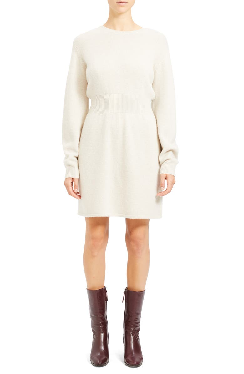 THEORY Wool & Cashmere Long Sleeve Sweater Dress, Main, color, 900