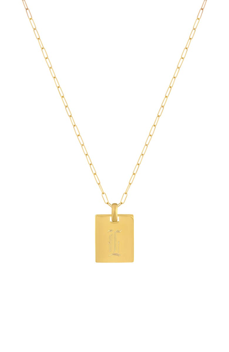 ELECTRIC PICKS Say My Name Pendant Necklace, Main, color, GOLD-L