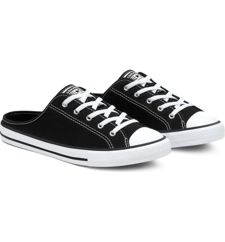 CONVERSE Chuck Taylor<sup>®</sup> All Star<sup>®</sup> Dainty Sneaker Mule, Main, color, BLACK/ BLACK/ WHITE