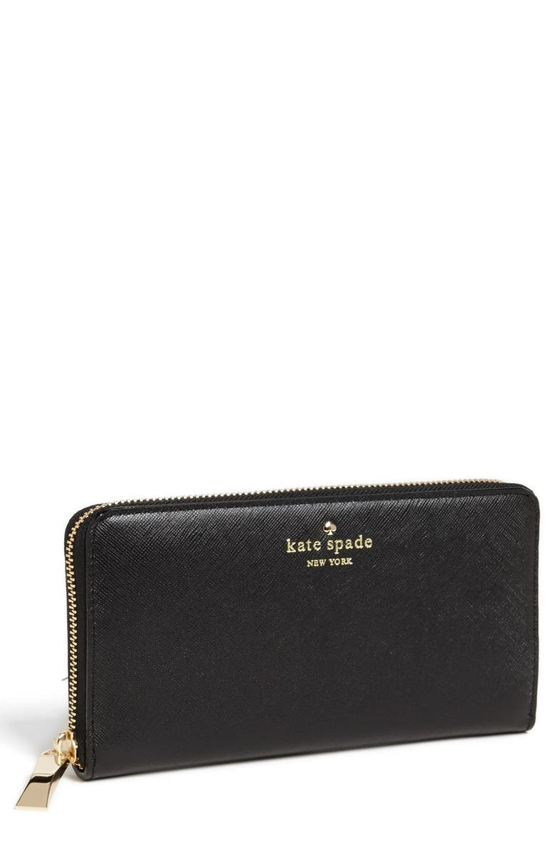 KATE SPADE NEW YORK 'cherry lane - lacey' wallet, Main, color, 001