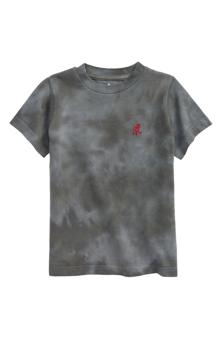 GRAMICCI Kids' Running Man Embroidered Tie Dye T-Shirt, Main, color, TIE DYE GREY