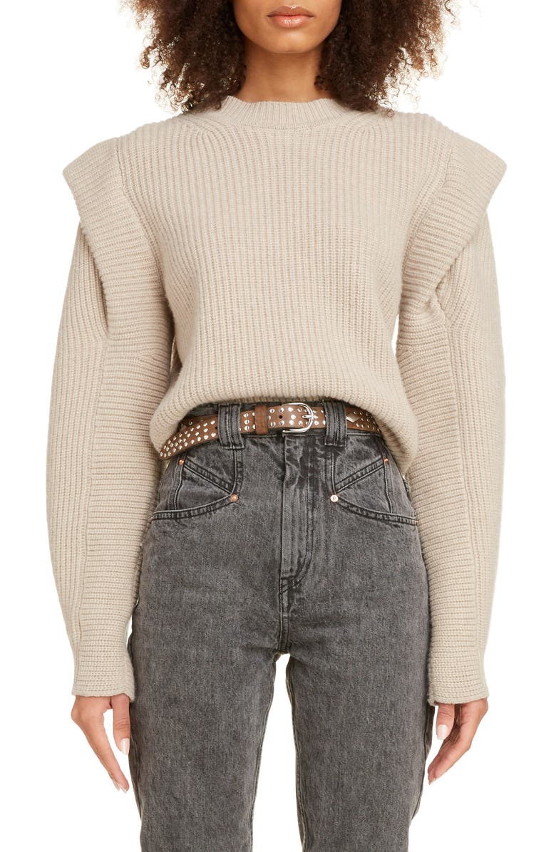 ISABEL MARANT Layered Cashmere & Wool Sweater, Main, color, 250
