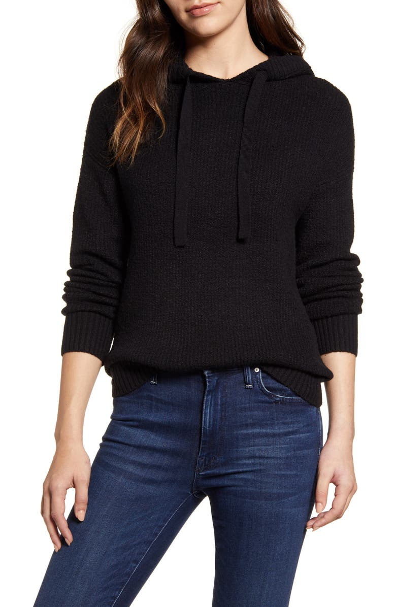 CASLON<SUP>®</SUP> Sweater Hoodie, Main, color, 001
