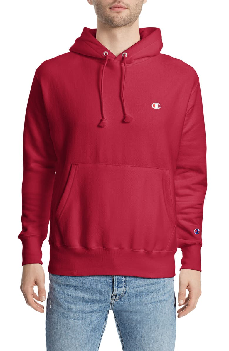 CHAMPION Reverse Weave<sup>®</sup> Pullover Hoodie, Main, color, TEAM RED SCARLET