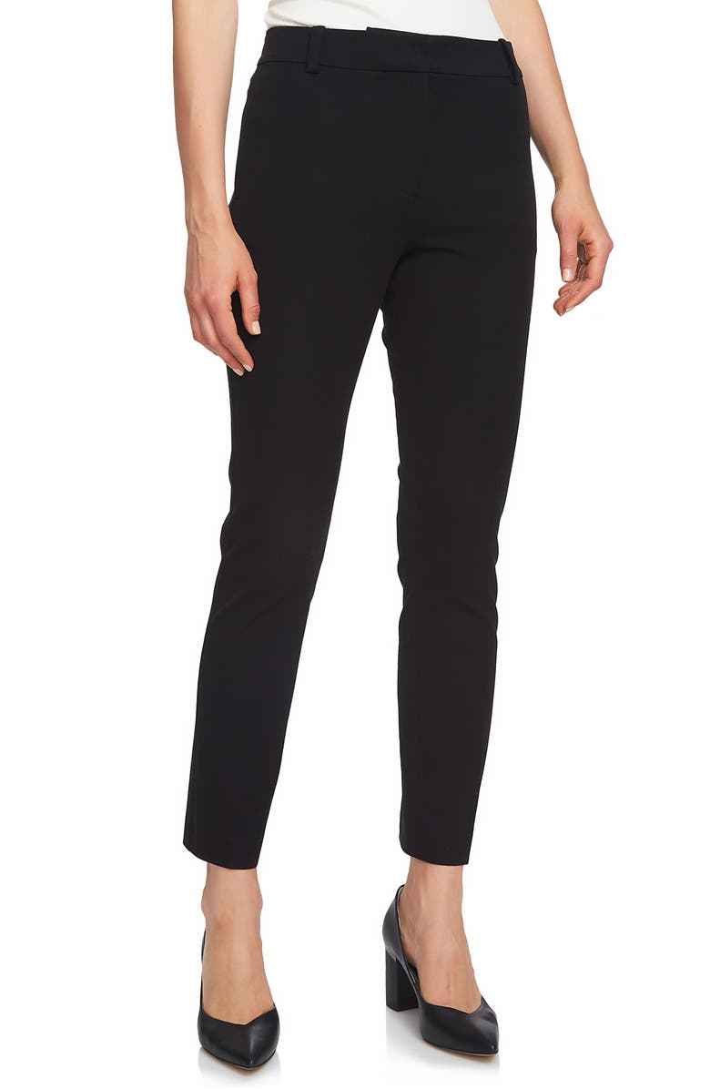 1.STATE Stretch Twill Slim Ankle Pants, Main, color, RICH BLACK