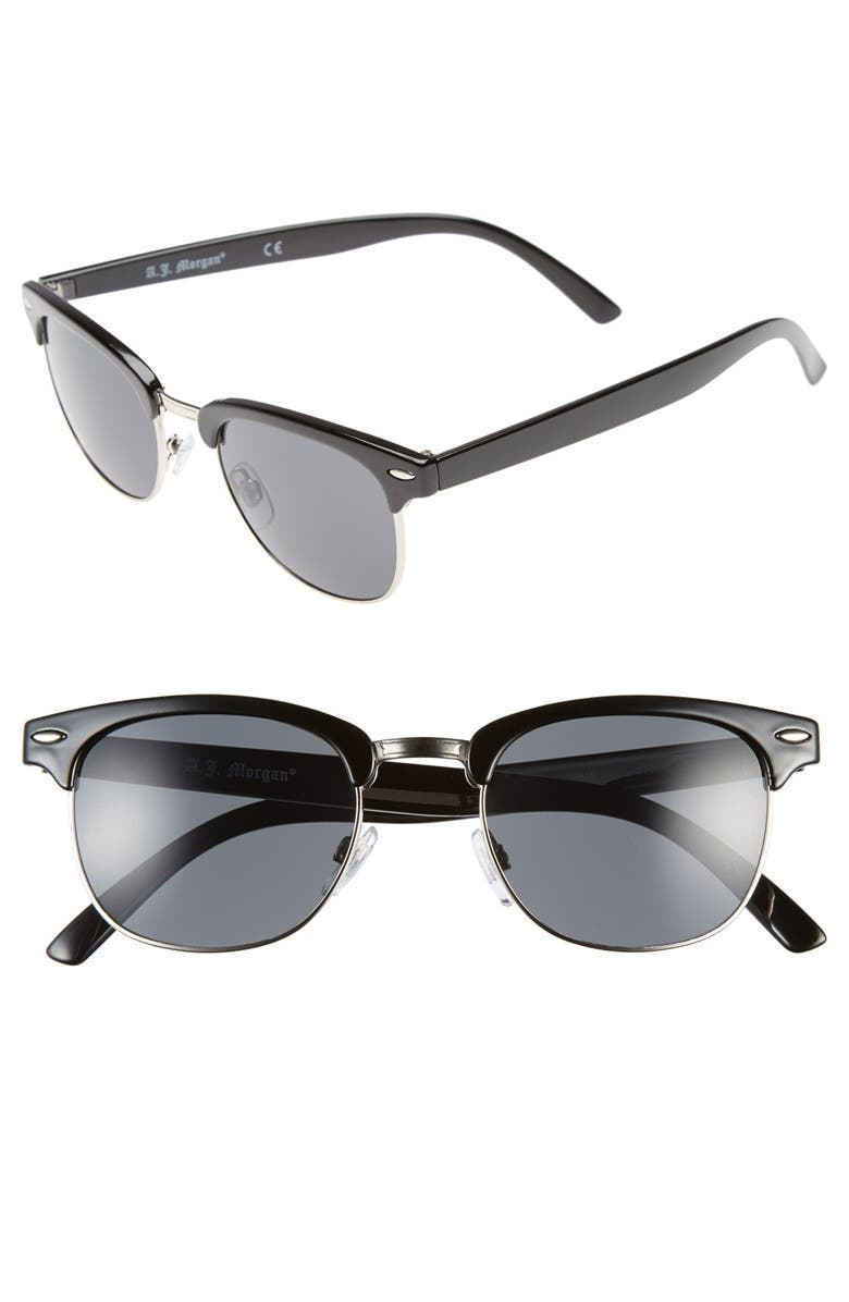 A.J. MORGAN 52mm 'Soho' Sunglasses, Main, color, 001