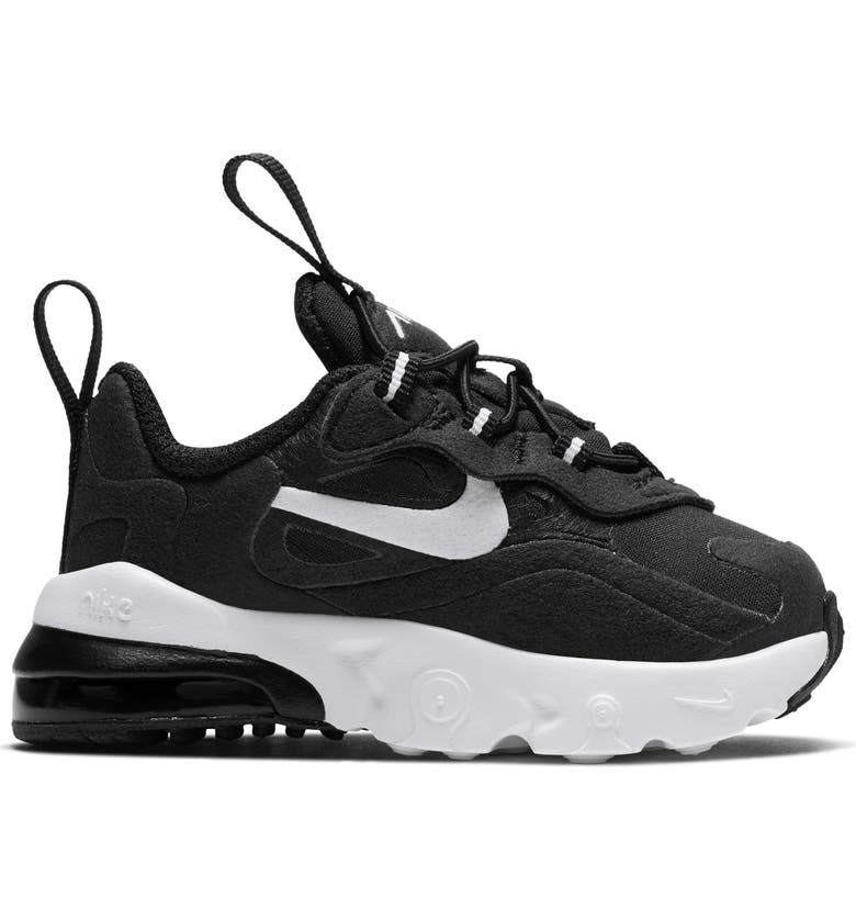 NIKE Air Max 270 React Sneaker, Main, color, BLACK/ WHITE/ BLACK
