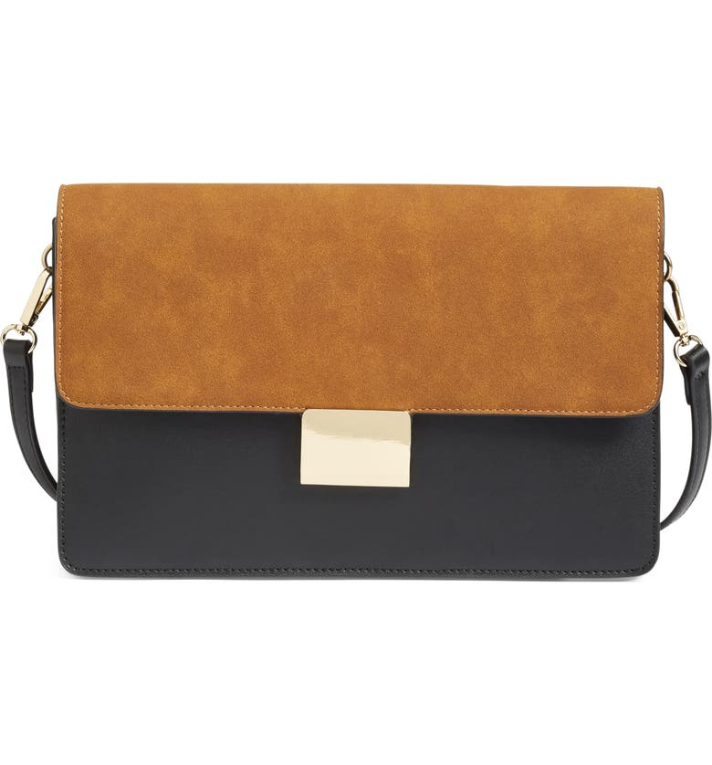 CHELSEA28 Leighton Colorblock Faux Leather Crossbody Bag, Main, color, 001