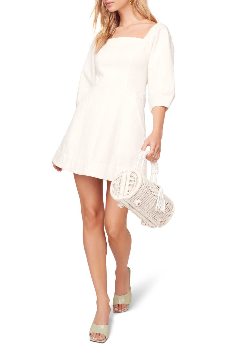 ASTR THE LABEL Rabia Fit & Flare Minidress, Main, color, White