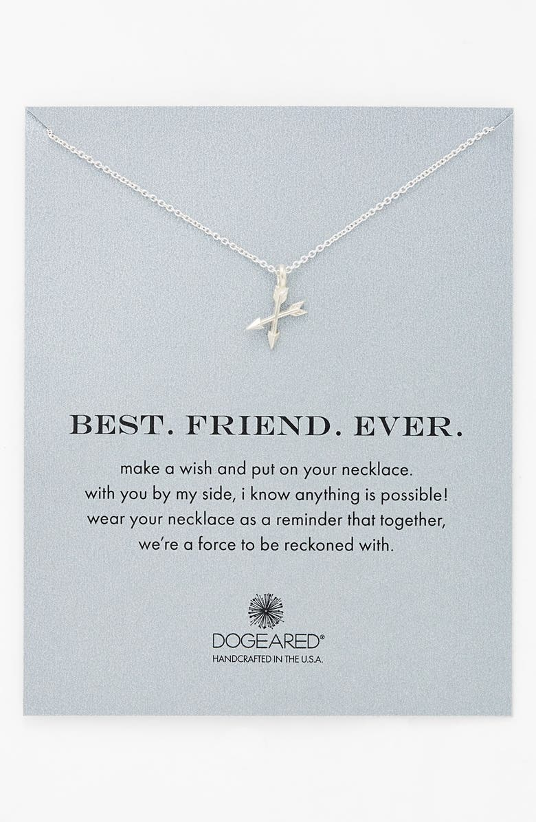 DOGEARED 'Best. Friend. Ever.' Pendant Necklace, Main, color, 040