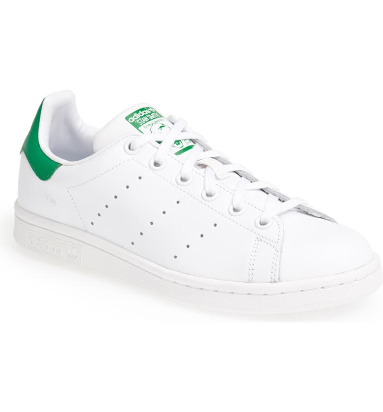 ADIDAS 'Stan Smith' Leather Sneaker, Main, color, WHITE/ GREEN