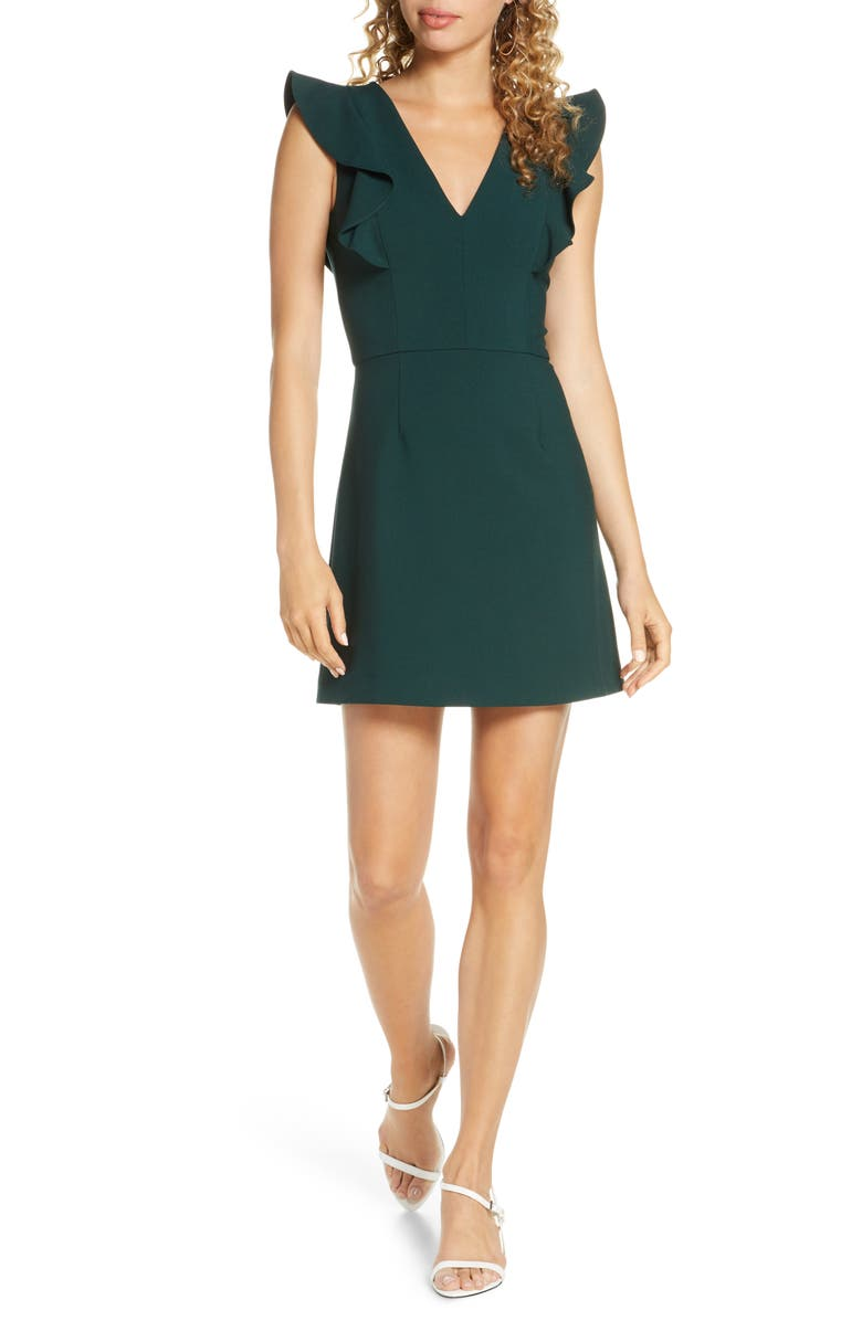 FRENCH CONNECTION Whisper Ruffle Minidress, Main, color, 300