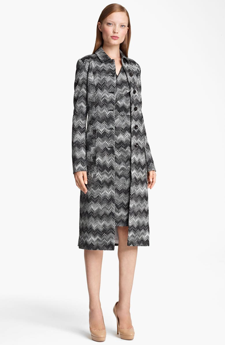MISSONI Long Snake Stitch Coat, Main, color, 001