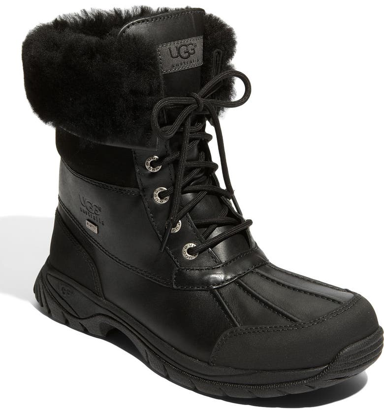 UGG<SUP>®</SUP> Butte Waterproof Boot, Main, color, Black