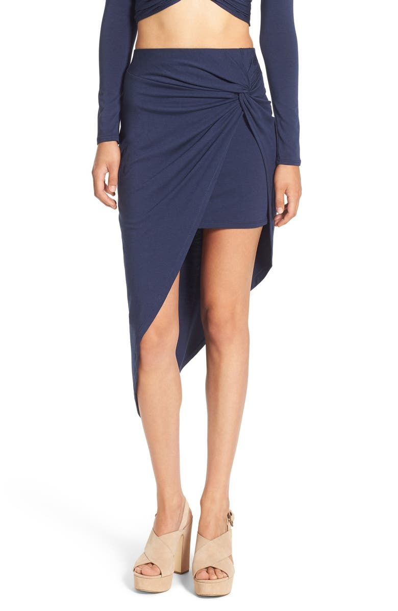 ASTR THE LABEL ASTR Side Knot Skirt, Main, color, 410