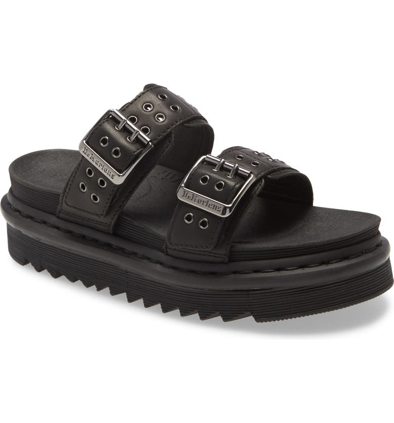 DR. MARTENS Myles Hardware Slide Sandal, Main, color, 001