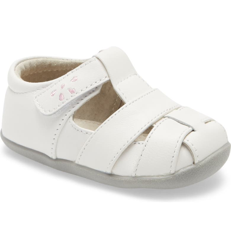 SEE KAI RUN Brook III Sandal, Main, color, WHITE/ PINK