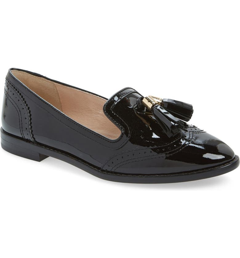 LOUISE ET CIE 'Joey' Tassel Loafer, Main, color, BLACK PATENT LEATHER