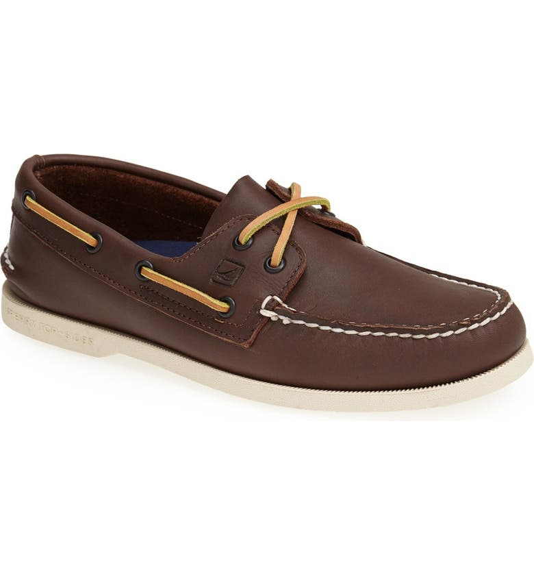 SPERRY KIDS Sperry 'Authentic Original' Boat Shoe, Main, color, CLASSIC BROWN