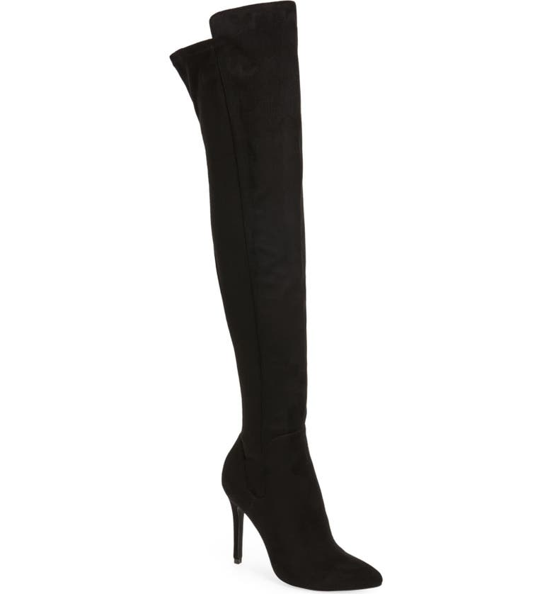 CHARLES BY CHARLES DAVID Penalty Over the Knee Boot, Main, color, Black
