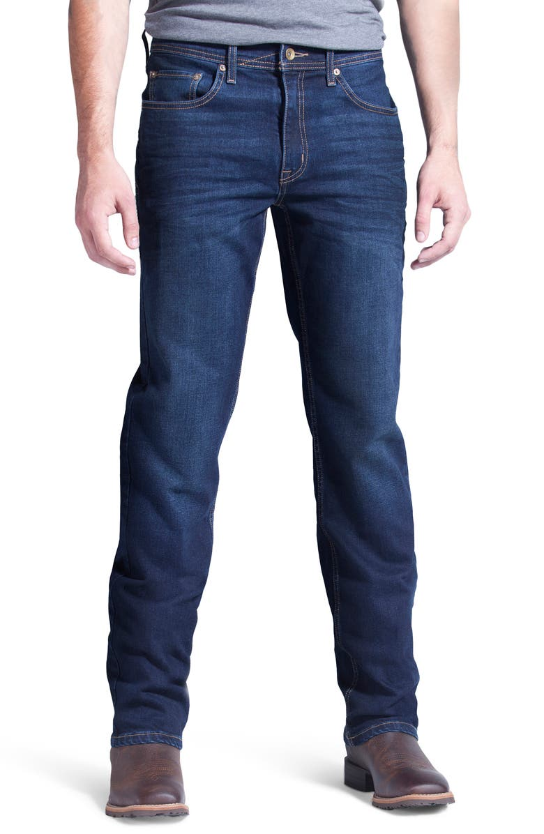 DEVIL-DOG DUNGAREES Boot Cut Performance Stretch Jeans, Main, color, LINCOLN