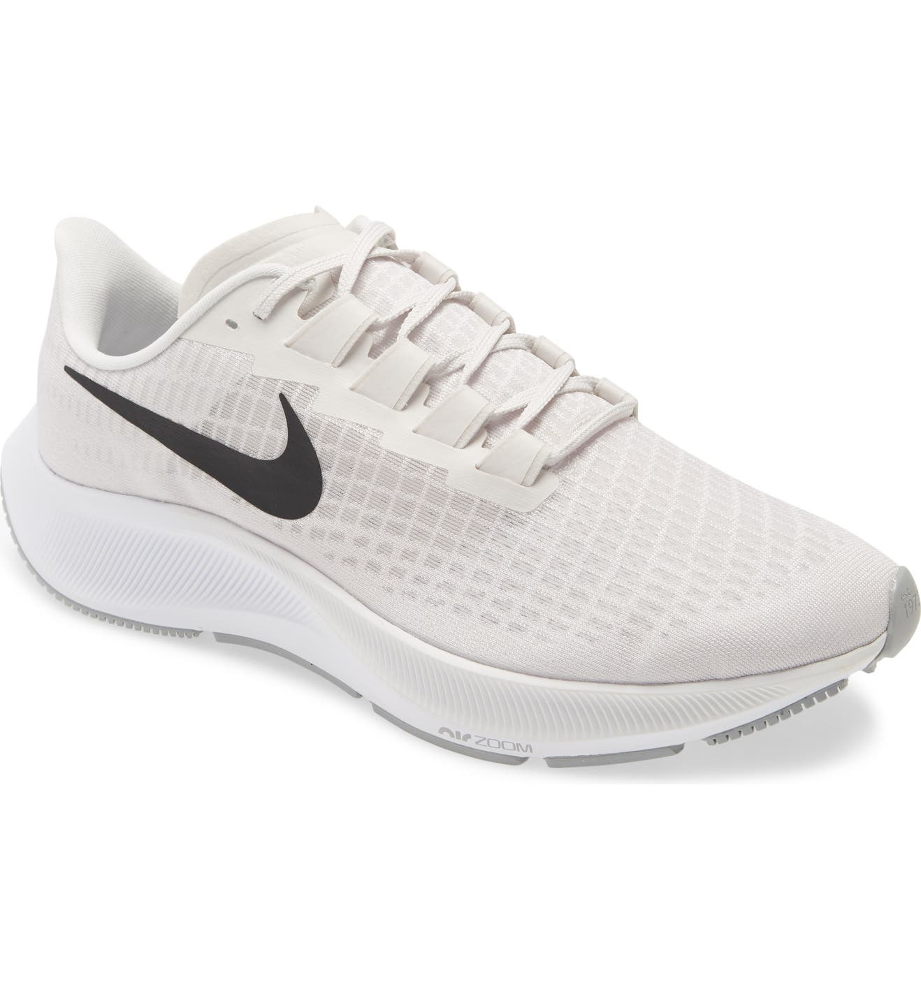 Nike Air Zoom Pegasus 37 Running Shoes (Platinum Tint/ Black Wolf Grey)