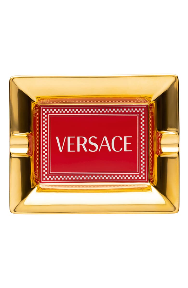 VERSACE Medusa Rhapsody Small Porcelain Tray, Main, color, 600