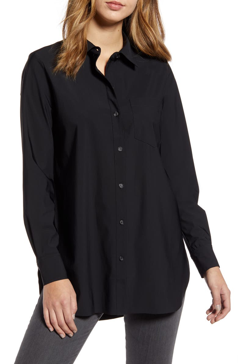LYSSÉ Schiffer Shirt, Main, color, BLACK