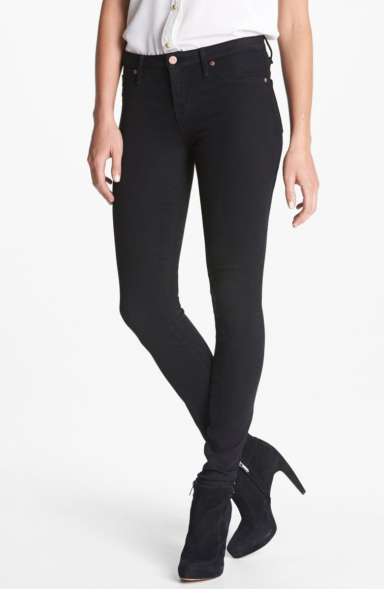 MARC BY MARC JACOBS 'Stick' Colored Skinny Stretch Jeans, Main, color, 001