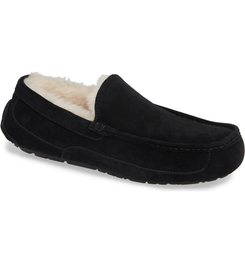 UGG<SUP>®</SUP> Ascot Slipper, Main, color, BLACK SUEDE