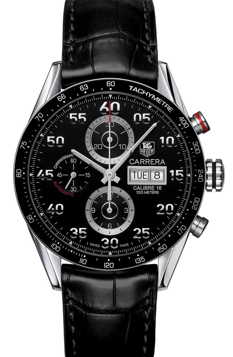 TAG HEUER 'Carrera' Automatic Tachymeter Watch, Main, color, 001